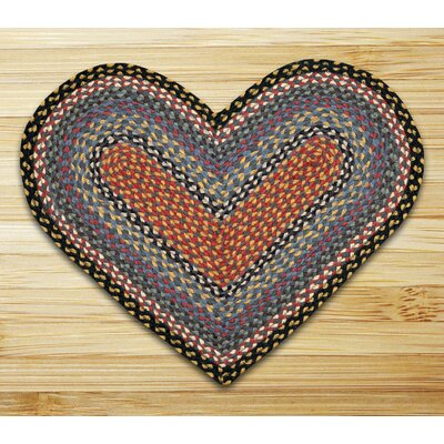 Braided Burgundy/Blue Area Rug Rug Size: Novelty 18 x 26