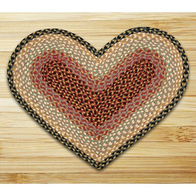 Braided Burgundy/Gray Area Rug Rug Size: Novelty 18 x 26