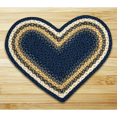 Braided Blue Area Rug Rug Size: Novelty 18 x 26