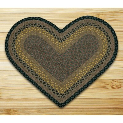 Braided Brown/Black Area Rug Rug Size: Novelty 18 x 26
