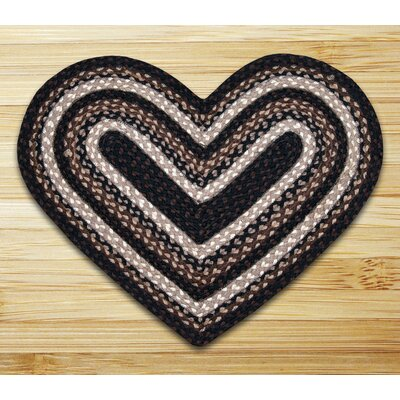 Braided Mocha/Frappuccino Area Rug Rug Size: Novelty 18 x 26