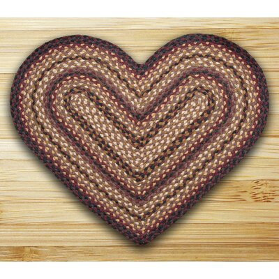 Braided Black Cherry Area Rug