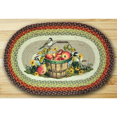 Apple Chickadee Oval Multi Patch Area Rug