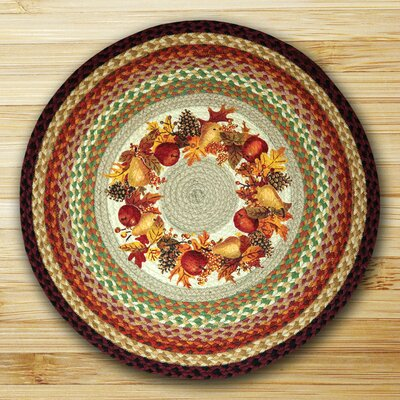 Autumn Wreath Round Multi Patch Area Rug