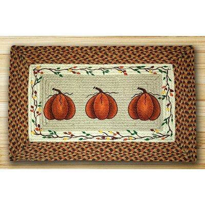 Harvest Pumpkin Orange Area Rug Rug Size: 18 x 26