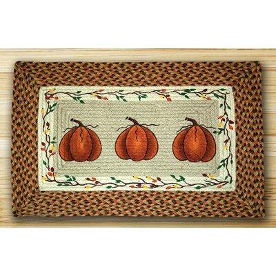 Harvest Pumpkin Orange Area Rug Rug Size: Rectangle 18 x 26