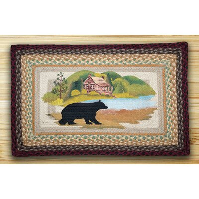 Cabin Bear Brown Patch Area Rug