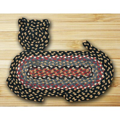 Braided Burgundy/Blue Area Rug Rug Size: Novelty 12 x 17