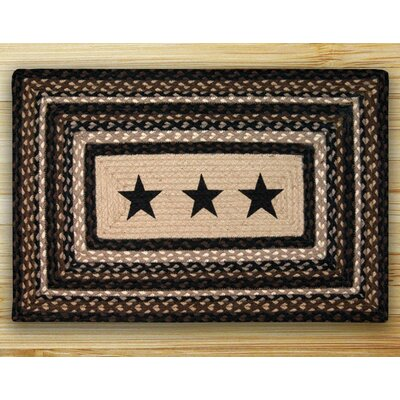 Black Stars Patch Area Rug Rug Size: 23 x 39