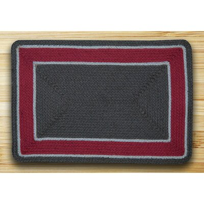 In the City Graphite/Burgundy Indoor/Outdoor Area Rug Rug Size: 18 x 26