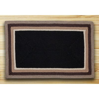 In the City Black/Natural Indoor/Outdoor Area Rug Rug Size: 18 x 26