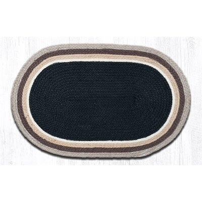 In the City Black/Natural Indoor/Outdoor Area Rug Rug Size: Oval 21 x 39