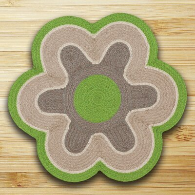 In the City Lime/Natural Indoor/Outdoor Area Rug
