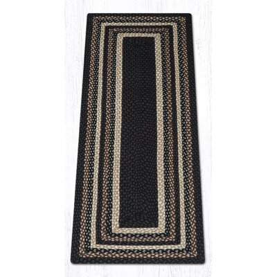 Mocha/Frappuccino Braided Area Rug Rug Size: Runner 2 x 6