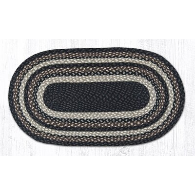Mocha/Frappuccino Braided Area Rug Rug Size: Oval 18 x 3