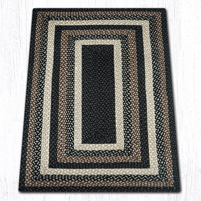 Mocha/Frappuccino Braided Area Rug Rug Size: Rectangle 3 x 5