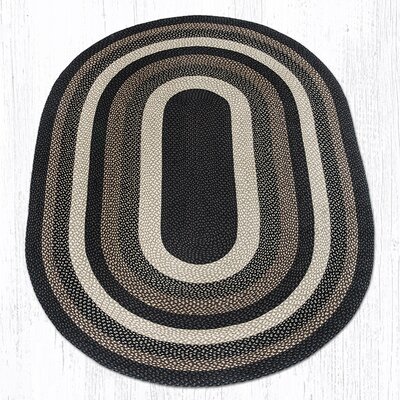 Mocha/Frappuccino Braided Area Rug Rug Size: Oval 6 x 9