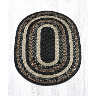Mocha/Frappuccino Braided Area Rug Rug Size: Oval 4 x 6