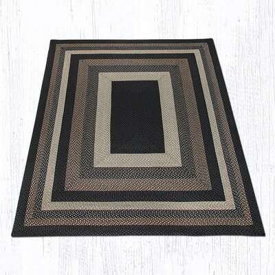 Mocha/Frappuccino Braided Area Rug Rug Size: Rectangle 8 x 10