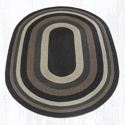 Mocha/Frappuccino Braided Area Rug Rug Size: Oval 8 x 11