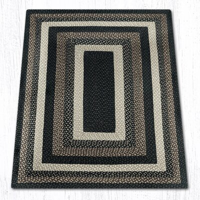 Mocha/Frappuccino Braided Area Rug Rug Size: Rectangle 4 x 6