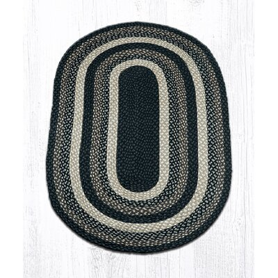 Mocha/Frappuccino Braided Area Rug Rug Size: Oval 3 x 5