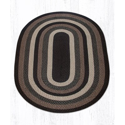 Mocha/Frappuccino Braided Area Rug Rug Size: Oval 5 x 8