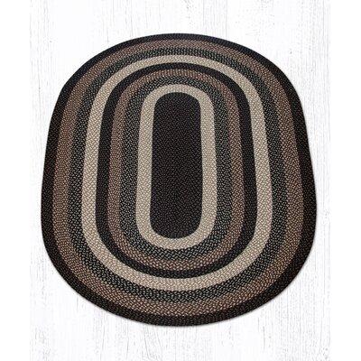 Mocha/Frappuccino Braided Area Rug Rug Size: Oval 5 x 8