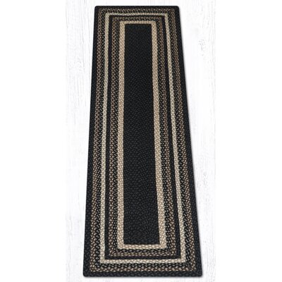 Mocha/Frappuccino Braided Area Rug Rug Size: Runner 2 x 8