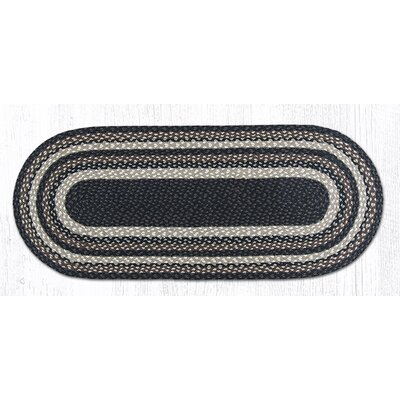 Mocha/Frappuccino Braided Area Rug Rug Size: Oval 18 x 4