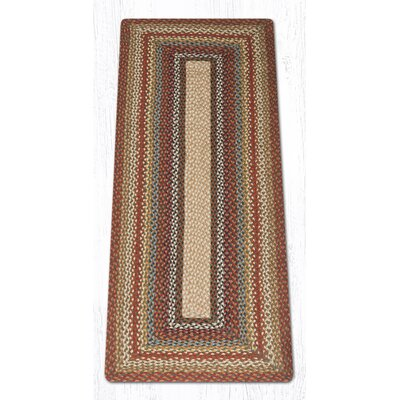 Braided Red / Brown Area Rug Rug Size: Runner 2 x 6