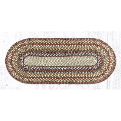 Honey/Vanilla/Ginger Braided Area Rug Rug Size: Oval 18 x 4