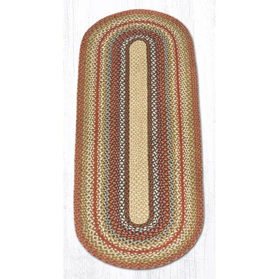 Braided Red / Brown Area Rug Rug Size: Oval 2 x 6