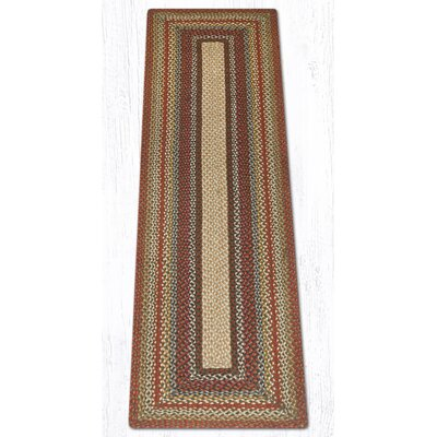 Braided Red / Brown Area Rug Rug Size: Runner 2 x 8