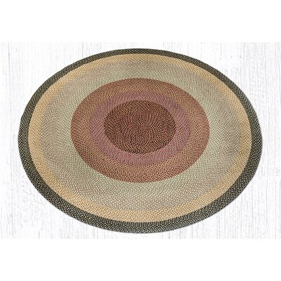 Braided Burgundy/Gray Area Rug Rug Size: Round 79