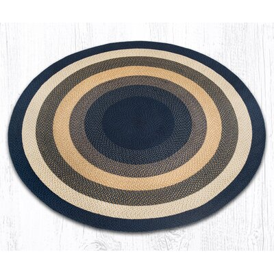 Braided Blue Area Rug Rug Size: Round 79