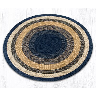 Braided Blue Area Rug Rug Size: Round 59