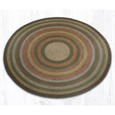Round Braided Fir/Ivory Area Rug Rug Size: Round 7'9