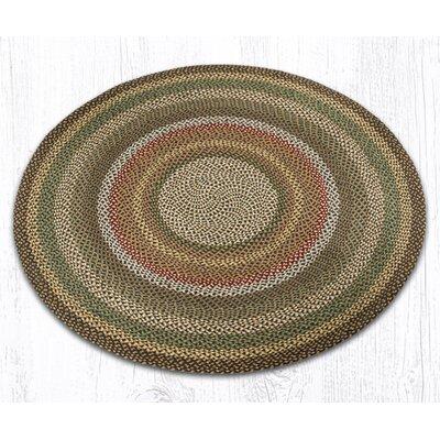 Round Braided Fir/Ivory Area Rug Rug Size: Round 5'9