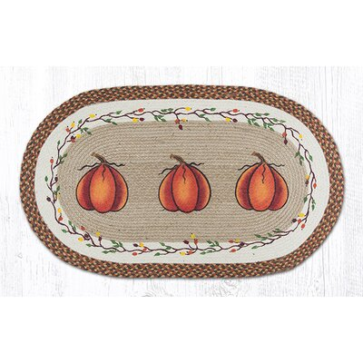 Harvest Pumpkin Orange Area Rug Rug Size: Oval 2 x 39