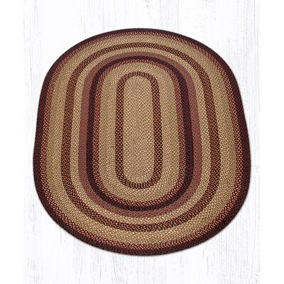Braided Black Cherry Area Rug Rug Size: Oval 5 x 8