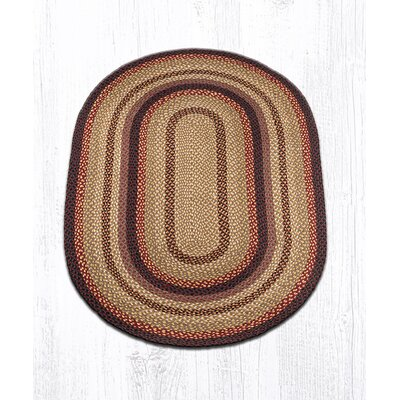 Braided Black Cherry Area Rug Rug Size: Oval 4 x 6