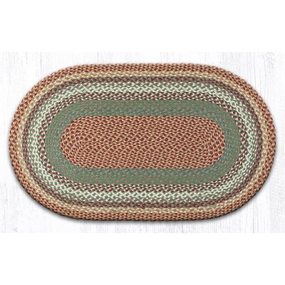 Oval Braided Buttermilk/Cranberry Area Rug Rug Size: Oval 2'3 x 3'9