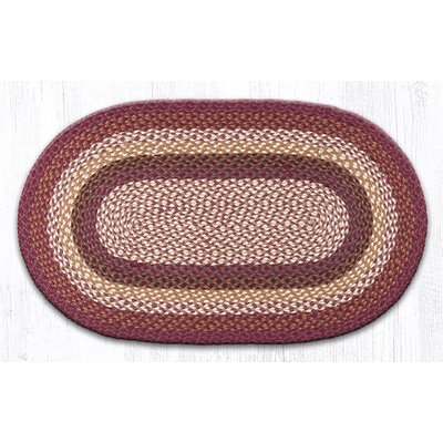 Oval Braided Ivory Area Rug Rug Size: Oval 2'3