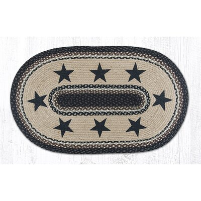 Black Stars Patch Area Rug