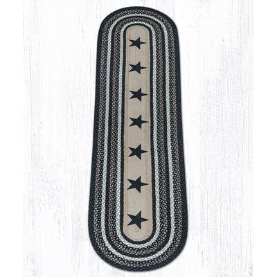 Black Stars Patch Area Rug Rug Size: Oval 2 x 8