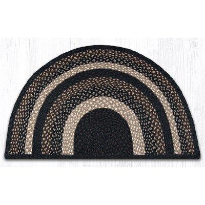 Braided Mocha/Frappuccino Area Rug Rug Size: Semi-Circle 2 x 33