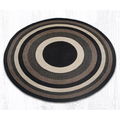Braided Mocha/Frappuccino Area Rug Rug Size: Round 79