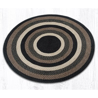 Braided Mocha/Frappuccino Area Rug Rug Size: Round 59