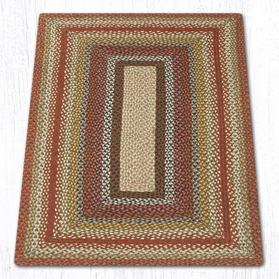 Braided Red / Brown Area Rug Rug Size: Rectangle 3 x 5